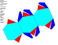 Paper Model of Hexagonal Dipyramidal Form (-6)
