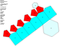 Paper Model of Hexagonal Pyramidal Form (6)