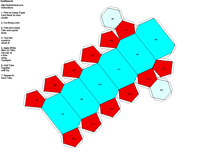 Paper Model of Hexagonal Trapexohedral Form (6 2 2)