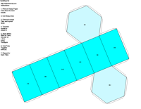 Paper Model of Hexagonal Form