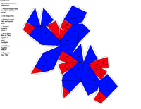 Paper Model of Isometric Hextetrahedral Form (-4 3m)