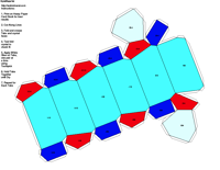 Paper Model of Trigonal Rhombohedral Form (-3)