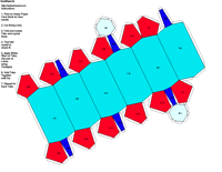 Paper Model of Trigonal Hexagonal Scalenohedral Form (-3 2/m)