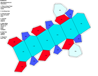 Paper Model of Trigonal Traphezohedral Form (3 2)