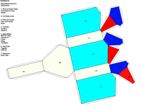 Paper Model of Trigonal Ditrigonal Pyramidal Form (3m)